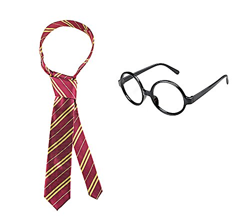 Harry Potter Gryffindor Tie Costume Play Tie For Kids Along With Glasses
