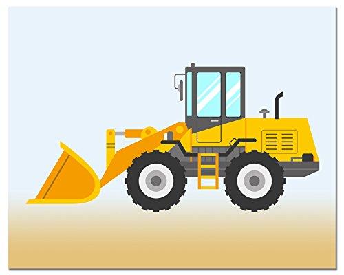 Amazon.com: BigWig Prints Construction Trucks Kids Room Wall Decor ...