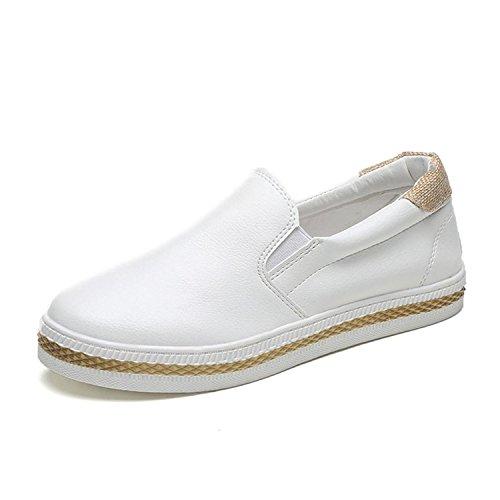 Kvinners Kingko® Skli Loafer På Sommeren Fritidssko Skjegg Våren Leiligheter Hvite Klassiske dBRqPBr