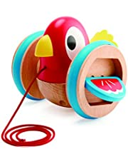 Hape Baby Bird Pull-Along | Wooden Wobbling & Flapping Pull Toddler Toy, Bright Colors Multicolor, L: 5.2, W: 5, H: 4.8 inch