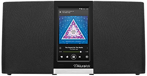 Aluratek AIRMM03F Wi-Fi Internet Radio Streaming Pandora, Slacker, iHeart, Spotify (Black) (Slacker Radio)