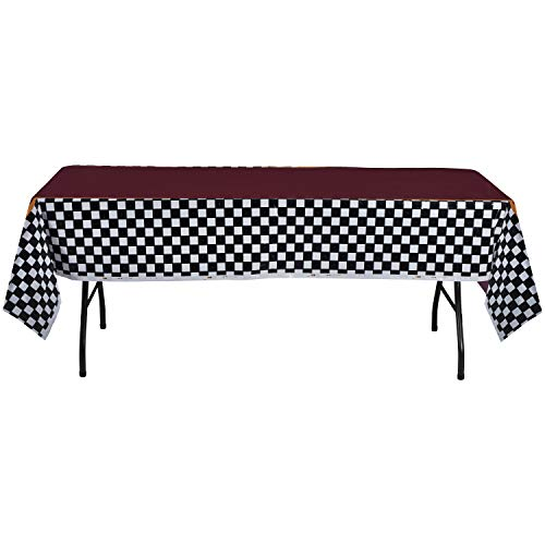 Hammont Disposable Plastic Picnic Tablecloth - 54