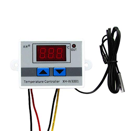 Cinhent New All-Purpose 220V Digital LED Temperature Controller 10A Thermostat Control Switch Probe Fahrenheit &Centigrade Thermostat Sensor