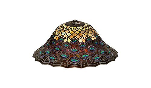 20 in. Peacock Feather Shade by Meyda Lighting