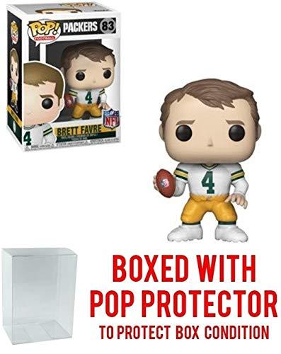 Funko NFL Legends: Brett Favre (Green Bay Packers White Jersey) Pop! Vinyl Figure (Includes Compatible Pop Box Protector Case)