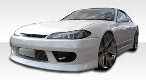- 1995-1998 Nissan 240sx s15 Duraflex V-speed Conversion - Includes V-Speed Front Bumper (103562), S15 OEM Fiberglass Hood (100889) , and S15 OEM Fenders (101643) - Duraflex Body Kits