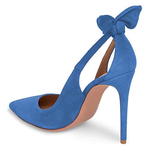 Juhlakengät Naisten Koko Meitä Fsj Teräväkärkiset Bowknot Tanssi 15 Pumput Kengät Sininen 4 Söpö Korkokengät 4RRd618q