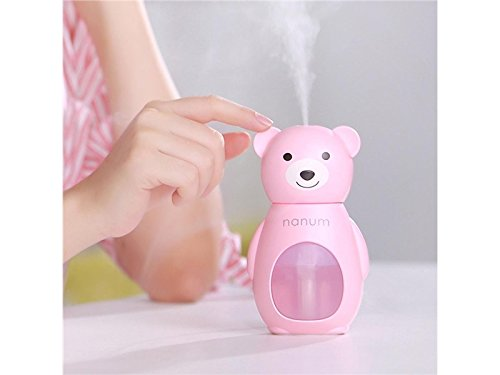 Zhisan Warm Cute Bear LED Humidifier Air Diffuser Purifier Atomizer Aroma Diffuser(Pink)