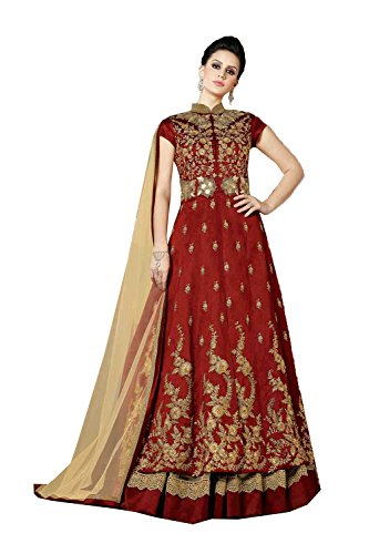 The Stylam Indian Women Designer Partywear Ethnic Traditonal Maroon Salwar Kameez by The Stylam