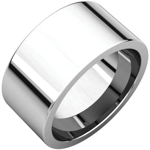 STU001- Palladium 10mm Flat Comfort-Fit Wedding Band by STU001-