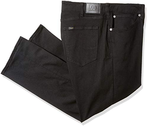 LEE Men's Big-Tall Modern Series Extreme Motion Relaxed Fit Jean, Black, 46W x 30L