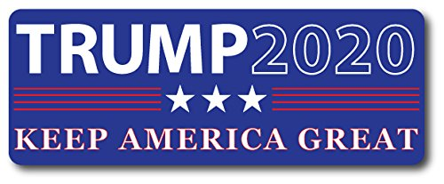 Trump 2020 Keep America Great - 3x8 Rectangle Car Magnet, Republican Party, Great for Car, Truck, SUV, Mailbox, Fridge]()