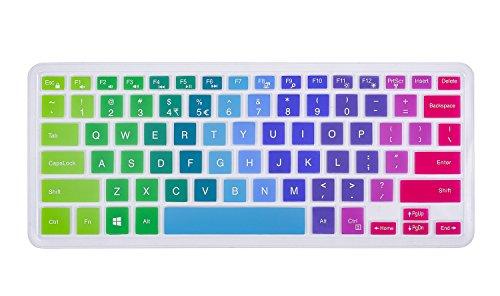 Keyboard Cover for 13.3 Dell Inspiron 13-5368 i5368 13-7368 i7368 13-7368 i7378, 15.6 Dell XPS 15-9550, 15.6 Inspiron 15-5568 i5568 15-5578 i5578 15-7568 15-7569 i7568 i7569 i7579, Rainbow