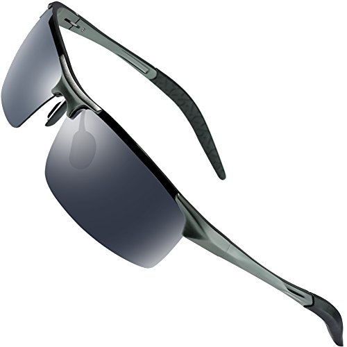 Sports Polarized Sunglasses for Men - wearPro Driving Sunglasses Al-Mg Metal Frame - Better Polarized Sunglasses Is