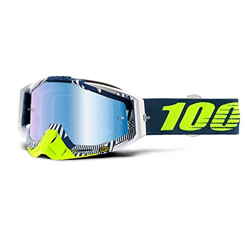 Riders Sport Dual (100% Racecraft Goggle + Mirrored Lens-Eclipse)