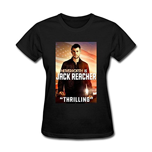 ZHENGXING Women's Jack Reacher Never Go Back Film Tom Cruise Short Sleeve T-Shirt L ColorName