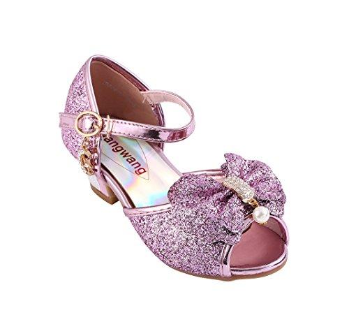 Children Princess Aisha Girls Sequin Sandals crystal High Heels Shoes (10 M US Toddler, -