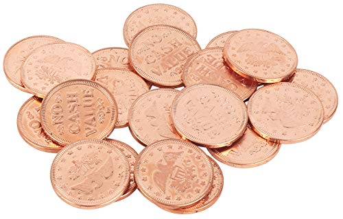 "0.900"" in Diameter Eagle Design Arcade/Prize Metal Copper Color (Shade May Vary) Tokens by MT Products - (Pack of 50 Tokens) (Please Determine if Correct Size for Your Machine Before Ordering.)"