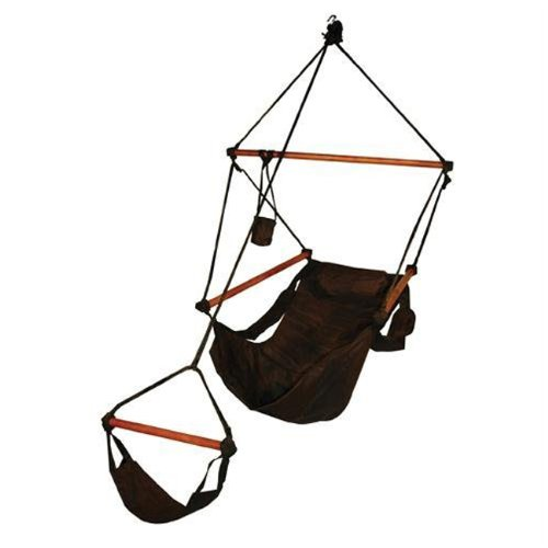 Hammaka Original Outdoor/Patio/Lawn & Garden Hammocks Swing Hanging Air Chair With Pillow & Drink H