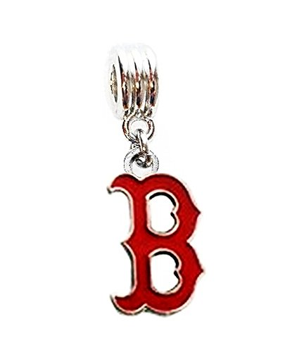 Heavens Jewelry Boston RED SOX Charm Baseball Team Charm Slider Pendant for Your Necklace European Charm Bracelet (Fits Most Name Brands) DIY Projects ETC