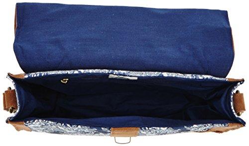 DCS - Borsa Briefcase ERJBP03022 Donna, Blu (Dark Denim)