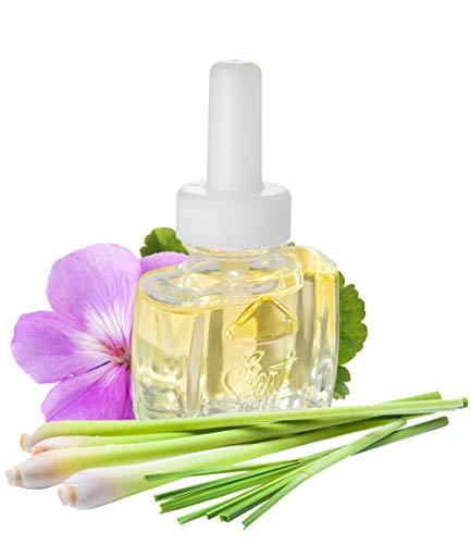 Scent Fill (3 Pack) Plug in Refills 100% Natural Lemongrass Geranium- Fits Glade Air Wick