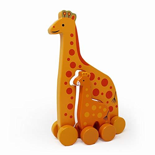 Jack Rabbit Creations Giraffe Mommy & Baby Push Toy