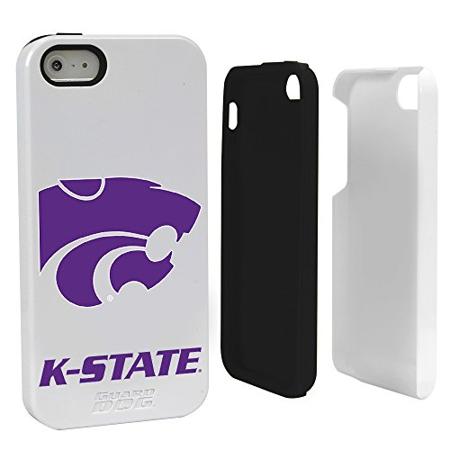 (Guard Dog NCAA Kansas State Wildcats Hybrid Case for iPhone 5/5s, White, One Size)