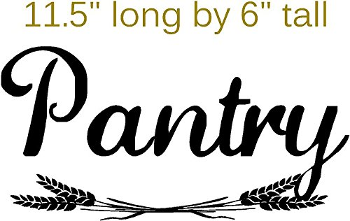 Pantry with Wheat, sticker decal for pantry door, Walls with Style (Black) by Walls with Style