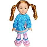 Brittany's Dots and Penguin Outfit Compatible with Wellie Wisher Dolls, Glitter Girl Dolls and Hearts for Hearts Dolls- 14.5 Inch Doll Clothes
