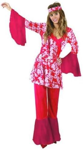 Desconocido Disfraz de hippie para mujer: Amazon.es: Juguetes y juegos