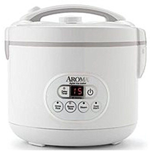 Aroma Rice Cooker and Food Steamer 4-12 Cups White