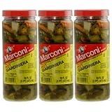 Marconi - The Original Chicago Style Hot Giardiniera - 16 Fl Oz (Pack of 3)