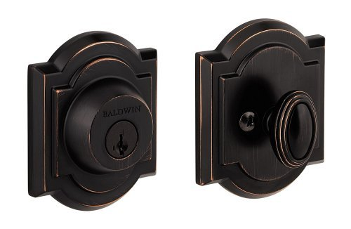 Baldwin 380 ARB 11P SMT CP RCAL Single Cylinder Arched Deadbolt Featuring SmartKey, Venetian Bronze by Baldwin by Baldwin