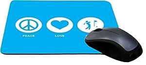Rikki KnightTM Peace Love Golf Sky Blue Design Lightning Series Gaming Mouse Pad