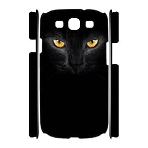 Black Cat Personalized 3D Case for Samsung Galaxy S3 I9300, 3D Customized Black Cat Case