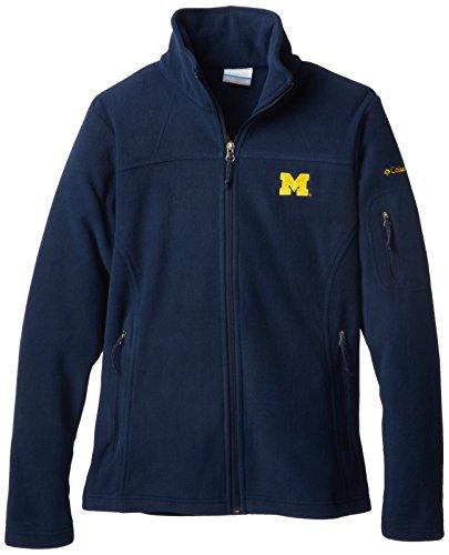 NCAA Michigan Wolverines Women's Give and Go FZ T-Shirt, Collegiate Navy, Medium