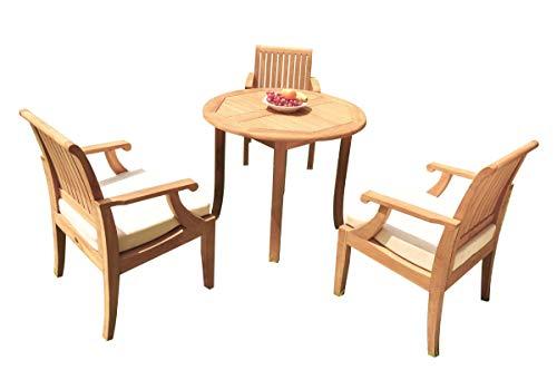 WholesaleTeakFurniture Grade-A Teak Wood 3 Seater 4 Pc Dining Set: 36