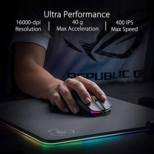 ASUS ROG Chakram Wireless Aura Sync RGB Gaming Mouse Optical Sensor 16000 DPI 41MKeCcTFGL