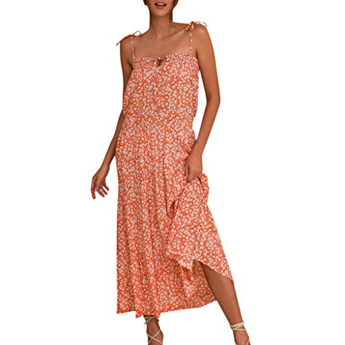 Party Dress for Women Elegant Sexy Women Summer Boho Floral Paisley Print Holiday Beach Maxi Dress - Belt Belted Paisley