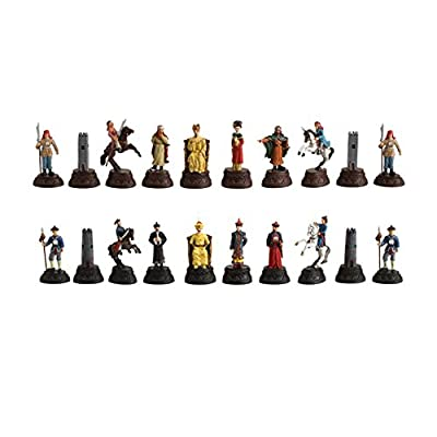 CHH Chinese Qin Dynasty Themed Metal Chess Piece Set