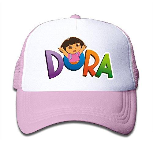 baby-dora-the-explorer-dora-adjustable-snapback-trucker-cap-pink-one-size