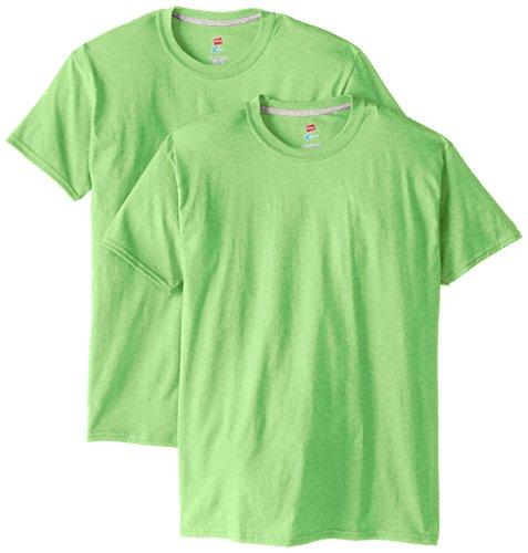 Hanes Men's 2 Pack X-Temp Performance T-Shirt, Neon Lime Heather, (Environment Green T-shirt)
