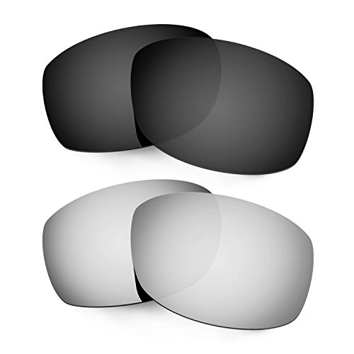 Hkuco Mens Replacement Lenses For Costa Zane Sunglasses Black/Titanium