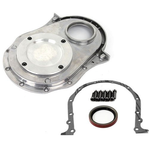 (Speedmaster PCE265.1021 Polished Aluminum 2-Piece Timing Chain Cover)
