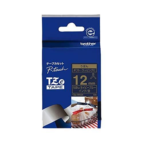 (まとめ)ブラザー リボンテープTZe-RN34 ブルーに金文字12mm【×30セット】 生活用品 インテリア 雑貨 文具 オフィス用品 ラベルシール プリンタ 14067381 [並行輸入品]   B07RC1GC32