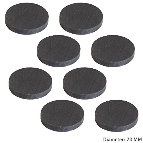 ToolUSA 8 Piece Disc Shaped Ceramic Magnets, 20 X 2mm: MC-06051