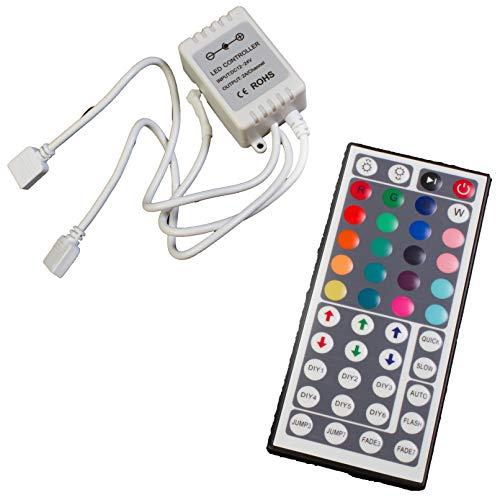 - LEDupdates IR Remote Controller 44 Keys RGB 2 Port Output Controller for 5050 3528 LED Light Strip Module