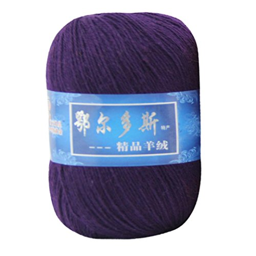 Worsted Yarn, SUKEQ Soft Cashmere Yarn DIY Hand-knitted Mongolian Woolen Thread for Sweater, Scarf, Hat (J) (Mongolian Cashmere Yarn)