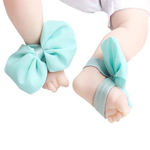 Koly 1 Par Infantil Arco Gasa Pie sandalias de playa (Gris) Cielo azul